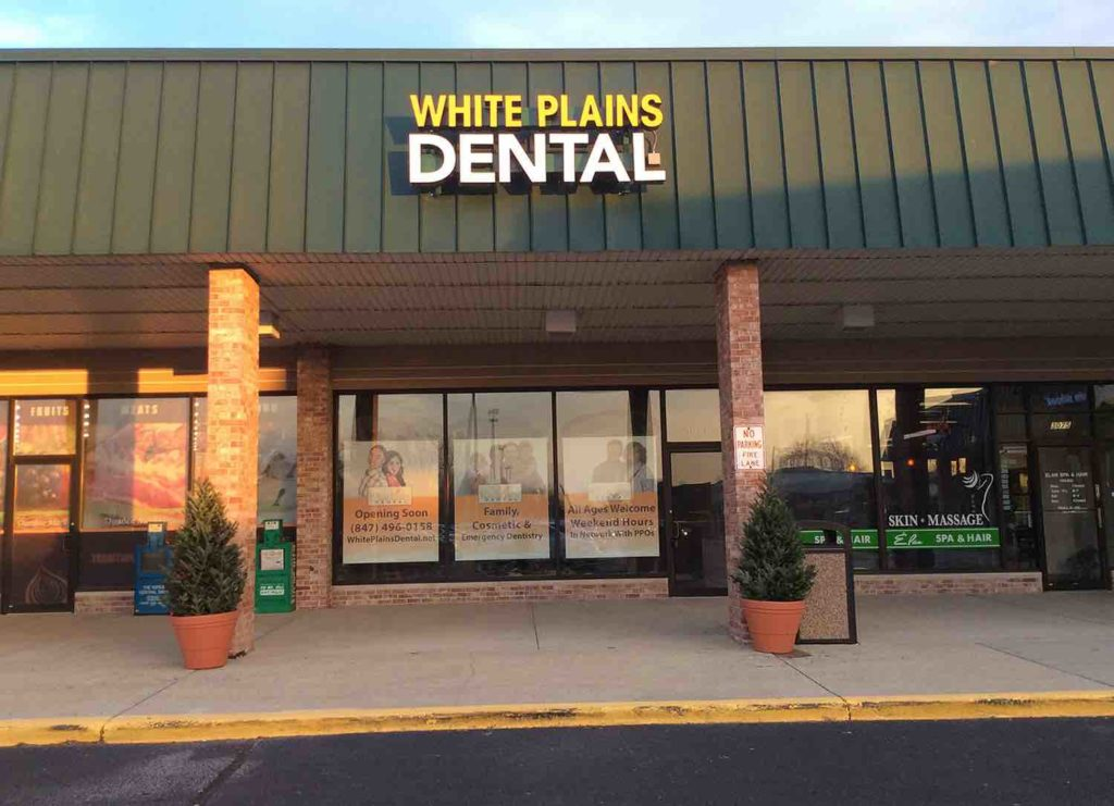 White Plains Dental Sign | Northbrook IL