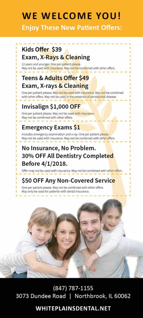 Dental Coupons - Northbrook - White Plains Dental