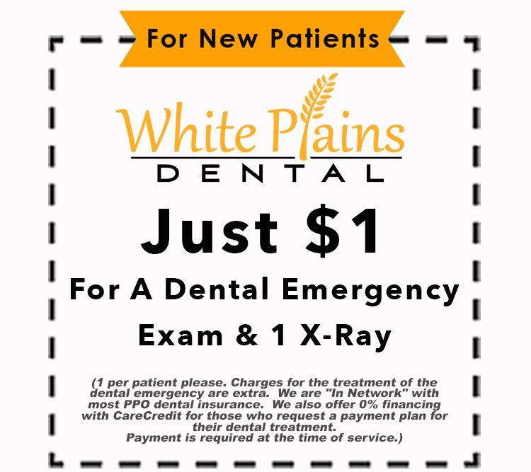 dental emergency coupon | dental emergency treatment | White Plains Dental | Northbrook IL
